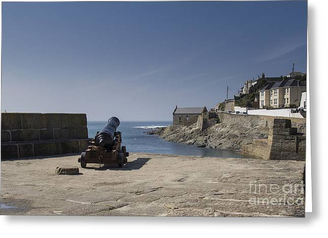 Cornwall Greeting Cards - Canon at Porthleven Greeting Card by Brian Roscorla