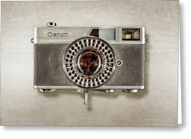 Canonete Film Camera Greeting Card by YoPedro
