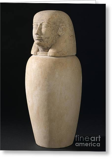 Canopic Jar, Egypt, 2000 Bce-100 Ce Greeting Card by Wellcome Images