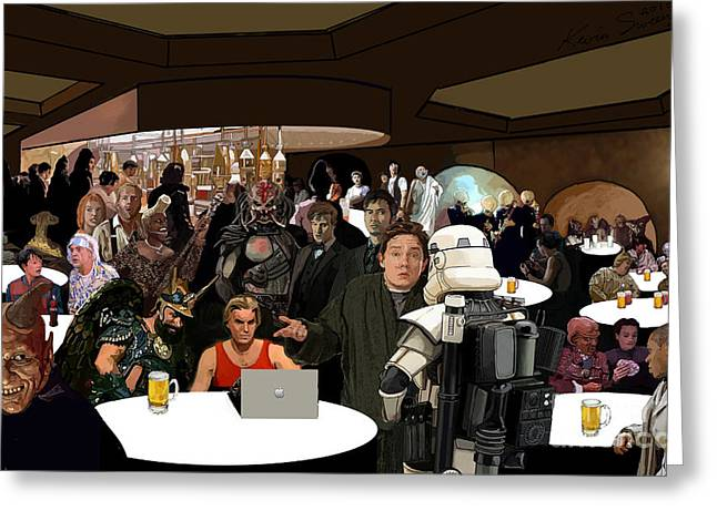 Cantina Greeting Card by Kevin Sweeney