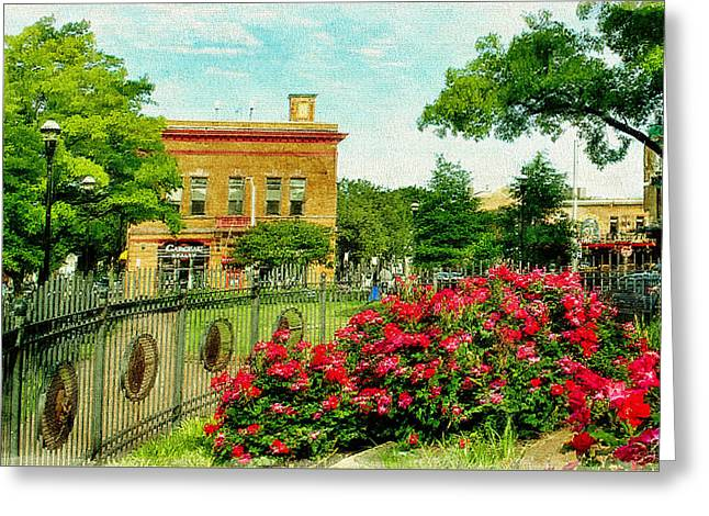 Canton Square Springtime, Baltimore, Md.  Greeting Card by Chet  Dembeck