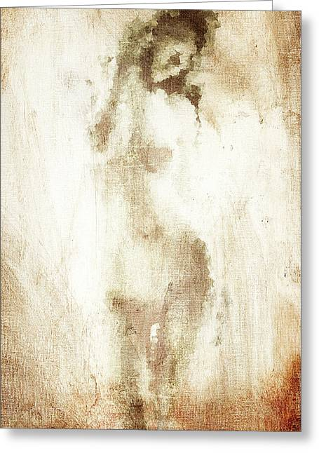 Full Body Digital Art Greeting Cards - Canvas Woman Greeting Card by Andrea Barbieri