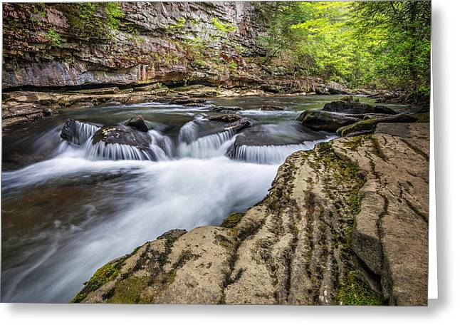 Tennessee River Greeting Cards - Canyon Cascades Greeting Card by Anthony Heflin