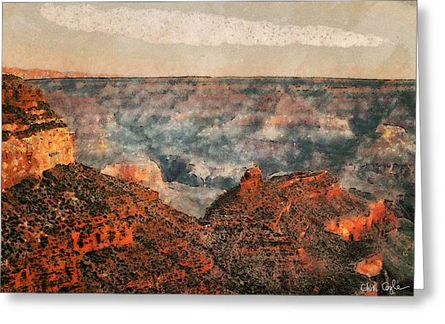 Usa Digital Art Greeting Cards - Canyon Greeting Card by Chris Coyle