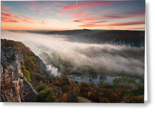Meander Greeting Cards - Canyon of Mists Greeting Card by Evgeni Dinev