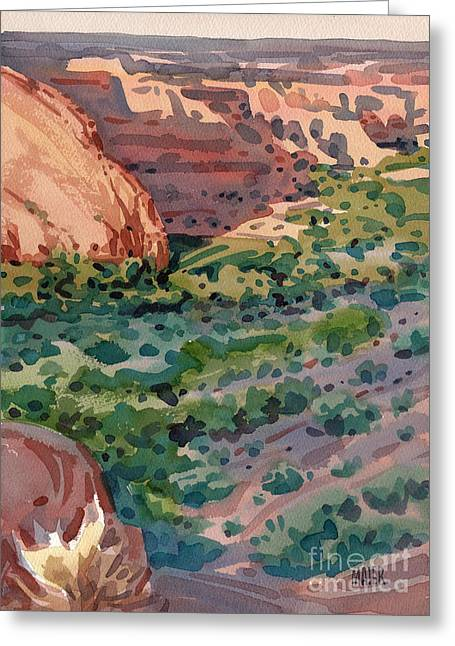 Canyons Paintings Greeting Cards - Canyon Shadows Greeting Card by Donald Maier