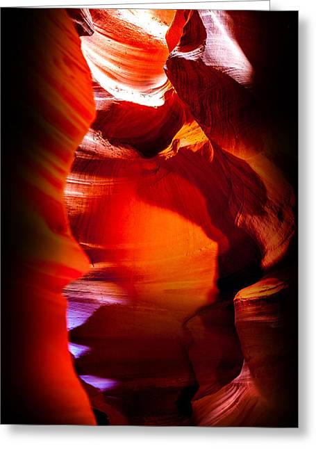 Nature Photographs Greeting Cards - Canyon Shute Greeting Card by Az Jackson