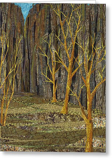 Western Tapestries - Textiles Greeting Cards - Canyon Willows Greeting Card by Linda Beach