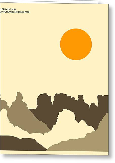 Minimalist Landscape Greeting Cards - Canyonlands National Park Greeting Card by Jazzberry Blue