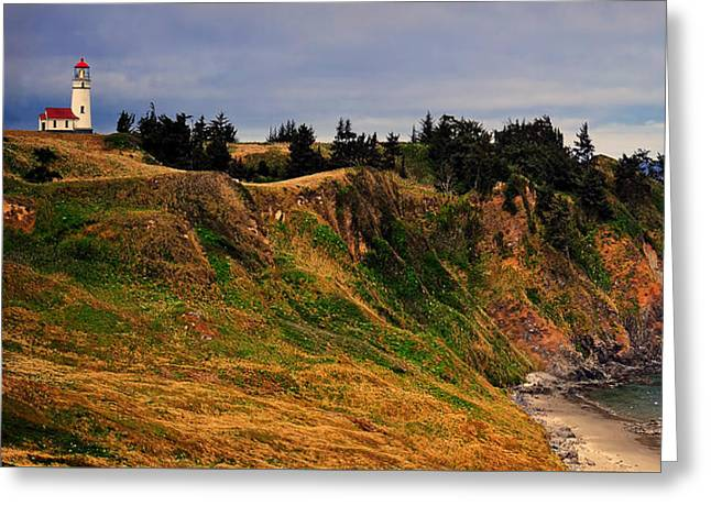 Top Seller Greeting Cards - Cape Blanco Lighthouse Greeting Card by Ken Smith