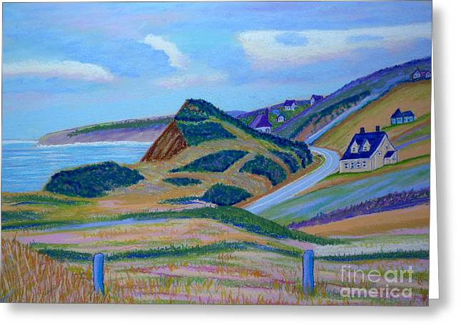 Highway Pastels Greeting Cards - Cape Brenton Highlands Greeting Card by Rae  Smith PSC