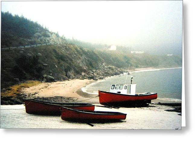 Cabot Greeting Cards - Cape Breton Fishing Boats Greeting Card by Will Borden