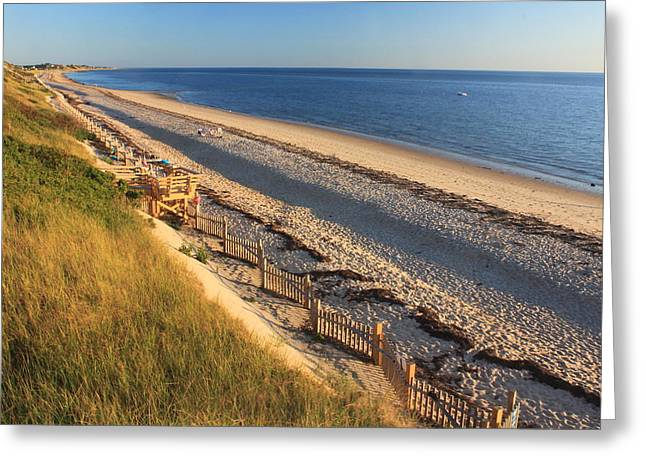 Cape Cod Bay Greeting Cards - Cape Cod Bay Beach Truro Greeting Card by John Burk