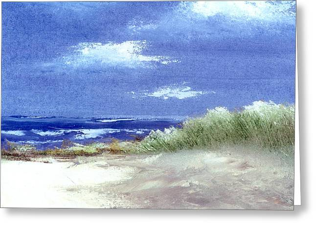 Sand Dunes Paintings Greeting Cards - Cape Cod Bay Greeting Card by Joseph Gallant