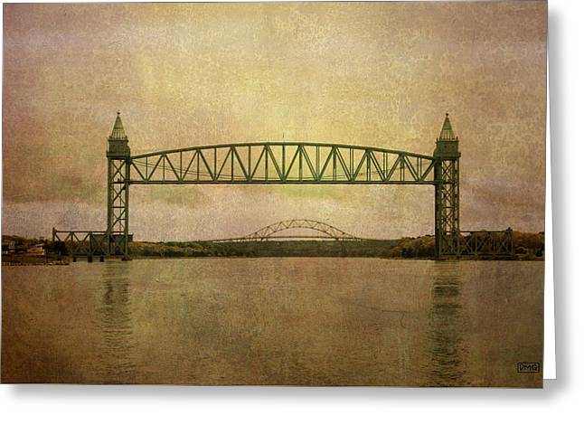 Cape Cod Canal And Bridges Greeting Card by Dave Gordon