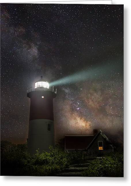 Beach At Night Greeting Cards - Cape Cod Celestial Outpost Greeting Card by Bill Wakeley