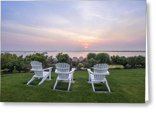 Chatham Greeting Cards - Cape Cod - Chatham Summer Sunrise Greeting Card by Betty Wiley