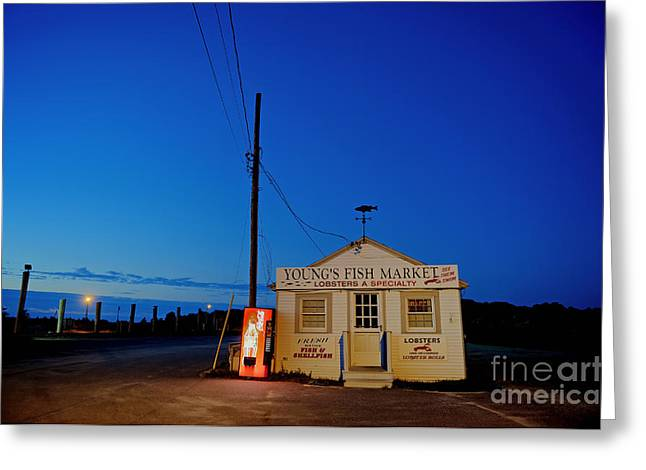 Vending Machine Photographs Greeting Cards - Cape Cod Fish Market Greeting Card by John Greim