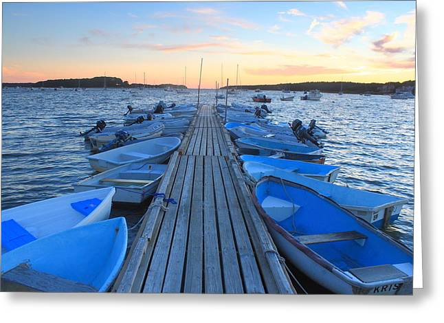 Cape Cod Massachusetts Greeting Cards - Cape Cod Harbor Boats Greeting Card by John Burk