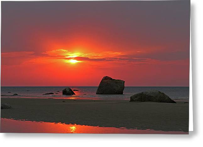 Cape Cod Harborview Beach Greeting Card by Juergen Roth