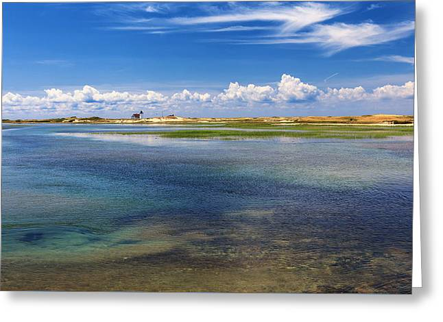 Dunes Greeting Cards - Cape Cod Hatches Harbor Greeting Card by Bill Wakeley