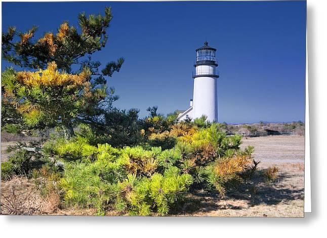 Beautiful Scenery Greeting Cards - Cape Cod Highland Light Greeting Card by Dapixara Art