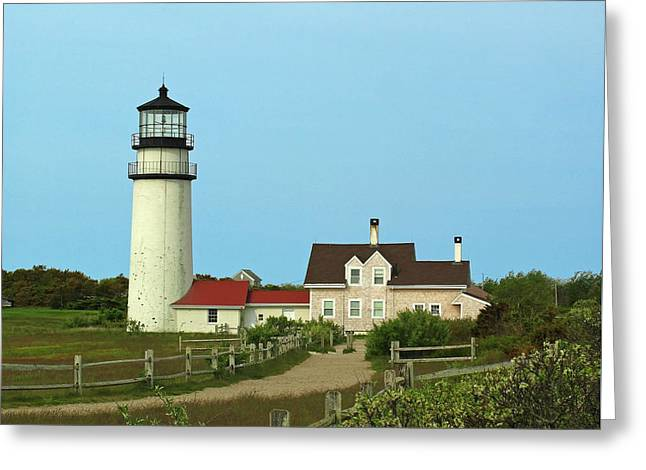 Juergen Greeting Cards - Cape Cod Highland Lighthouse Greeting Card by Juergen Roth