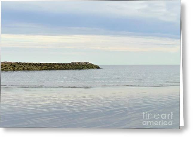 New England Ocean Greeting Cards - Cape Cod Jetty Sundown Greeting Card by Charlie Cliques