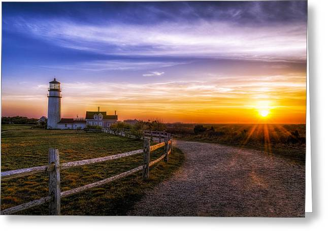 Gravel Road Digital Art Greeting Cards - Cape Cod Light Greeting Card by Mark Papke