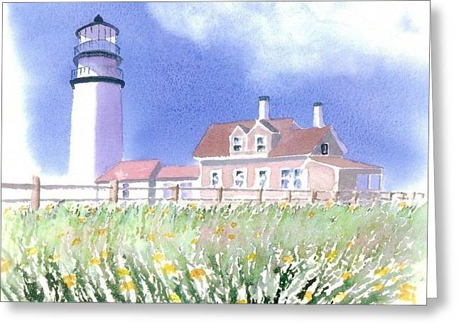 Cape Cod Light Summer Greeting Card by Joseph Gallant