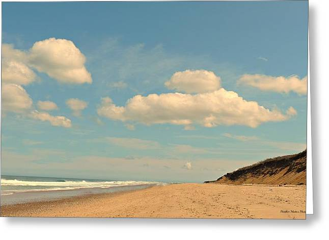 Ocean Shore Greeting Cards - Cape Cod National Seashore Greeting Card by Halo Photography -  Heather Mattos