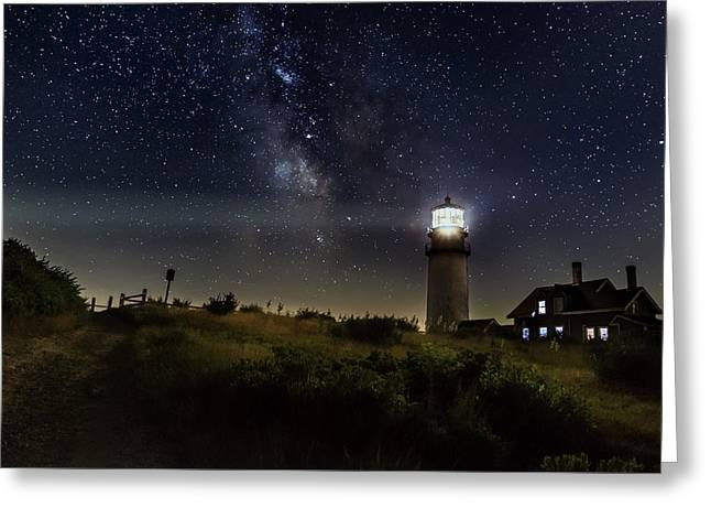 Universe Greeting Cards - Cape Cod Starry Night Greeting Card by Bill Wakeley