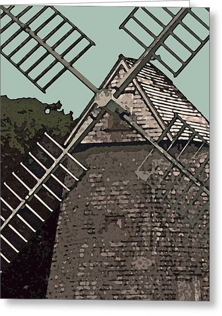 New England Ocean Greeting Cards - Cape Cod Windmill Greeting Card by Jean Hall