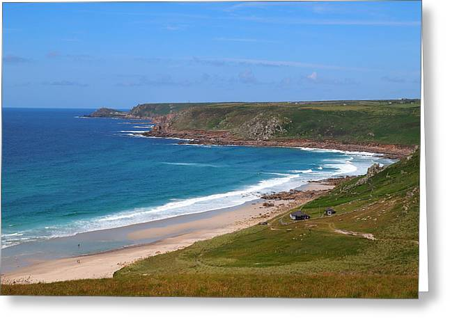 Cape Cornwall Greeting Cards - Cape Cornwall Greeting Card by H J Loerch