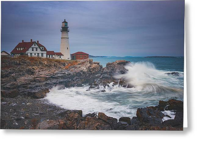 Cape Elizabeth Storm Greeting Card by Darren White