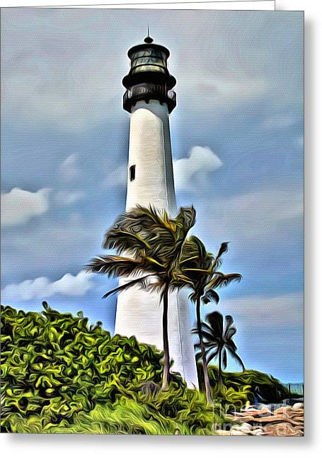 Cape Florida Greeting Card by Carey Chen