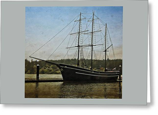 Usa Greeting Cards - Cape Foulweather Tall Ship Greeting Card by Thom Zehrfeld