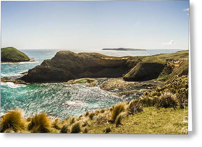 Cape Grim Cliff Panoramic Greeting Card by Jorgo Photography - Wall Art Gallery