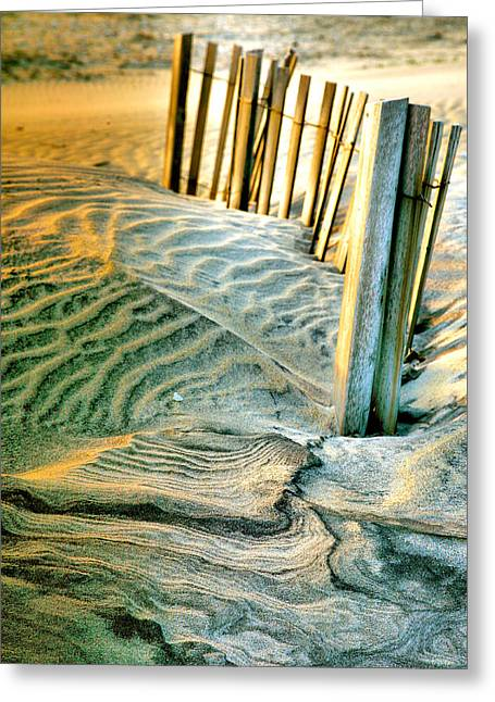 Recently Sold -  - Sand Pattern Greeting Cards - Cape Hatteras Dunes  Greeting Card by Steven Ainsworth