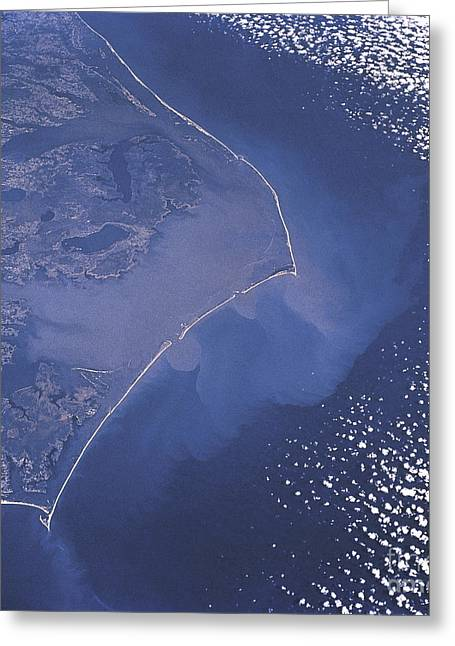 Barrier Island Greeting Cards - Cape Hatteras Islands Seen From Space Greeting Card by Science Source