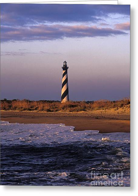 Cape Hatteras Greeting Cards - Cape Hatteras Lighthouse at Sunrise - FS000606 Greeting Card by Daniel Dempster