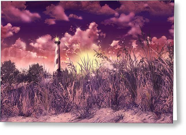 Surreal Images Greeting Cards - Cape Hatteras Lighthouse Greeting Card by MB Art factory