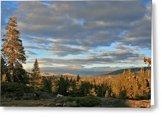 Larry Darnell Greeting Cards - Cape Horn Sunset Looking East Greeting Card by Larry Darnell