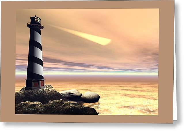 Cape Lookout Greeting Card by Corey Ford