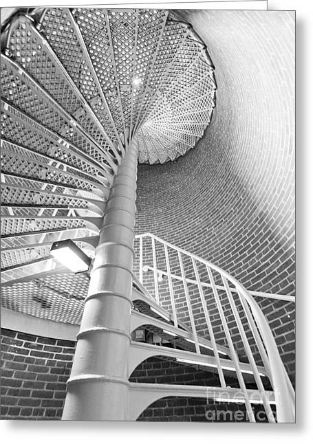 Spiral Staircase Photographs Greeting Cards - Cape May Lighthouse Stairs Greeting Card by Dustin K Ryan