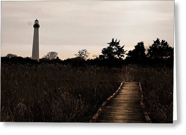 Cape May Nj Lighthouse Greeting Card by Kelly Johnson