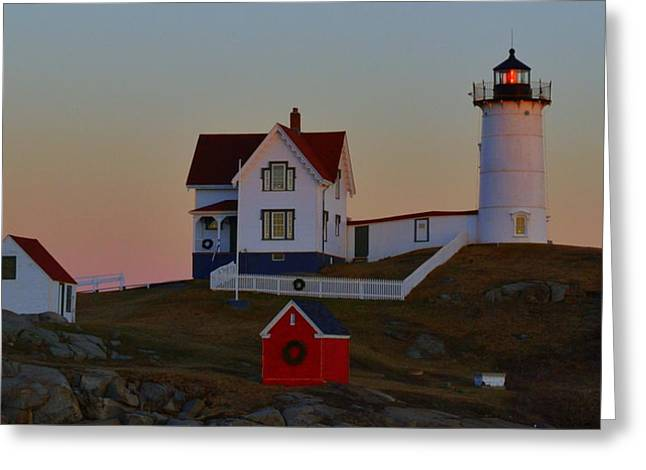 Cape Neddick Greeting Cards - Cape Neddick Light Greeting Card by Colleen Phaedra