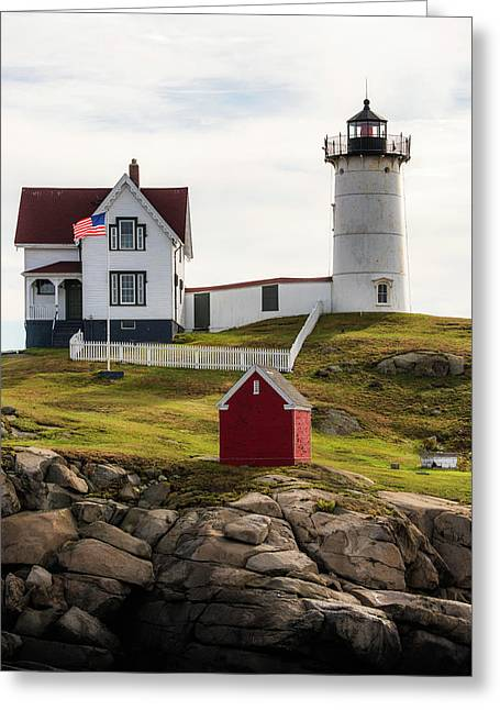 Cape Neddick Lighthouse 2 Greeting Card by Sherman Perry