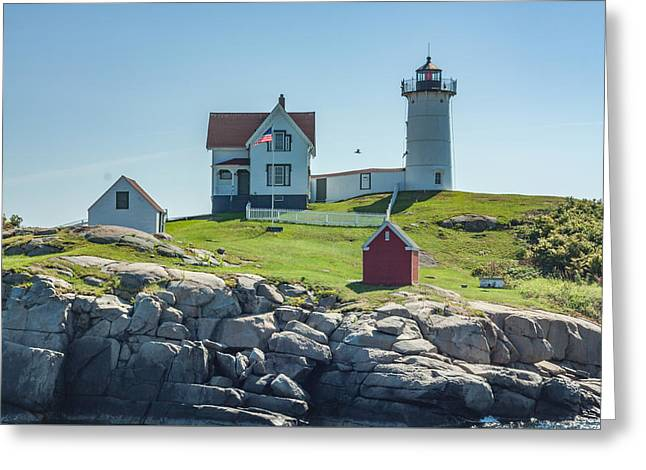 Cape Neddick Lighthouse Greeting Card by Brian MacLean