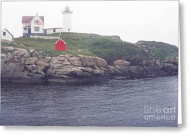Cape Neddick Lighthouse Greeting Card by Thomas R Fletcher